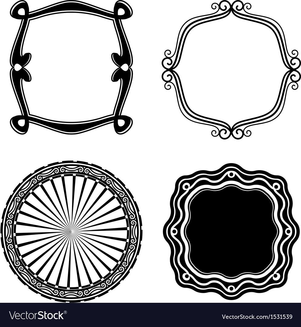 Frame Set ornamental vector image