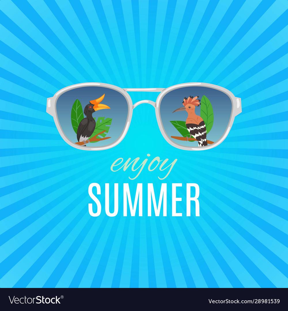 Hello summer vintage background