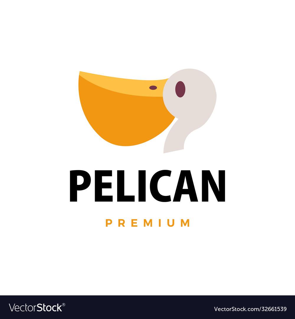 Pelican flat logo icon