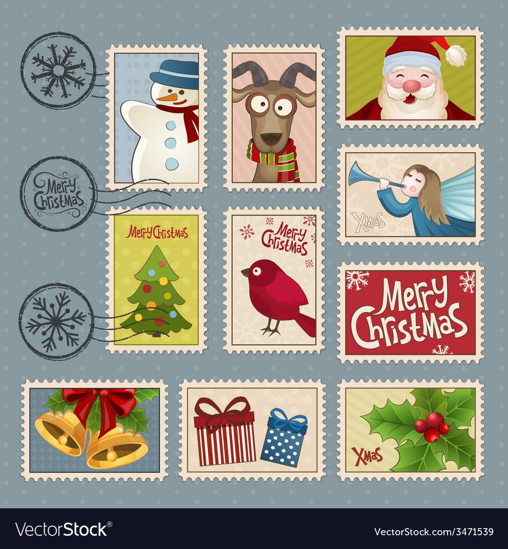 Christmas Stamps.Postage Stamps For Christmas