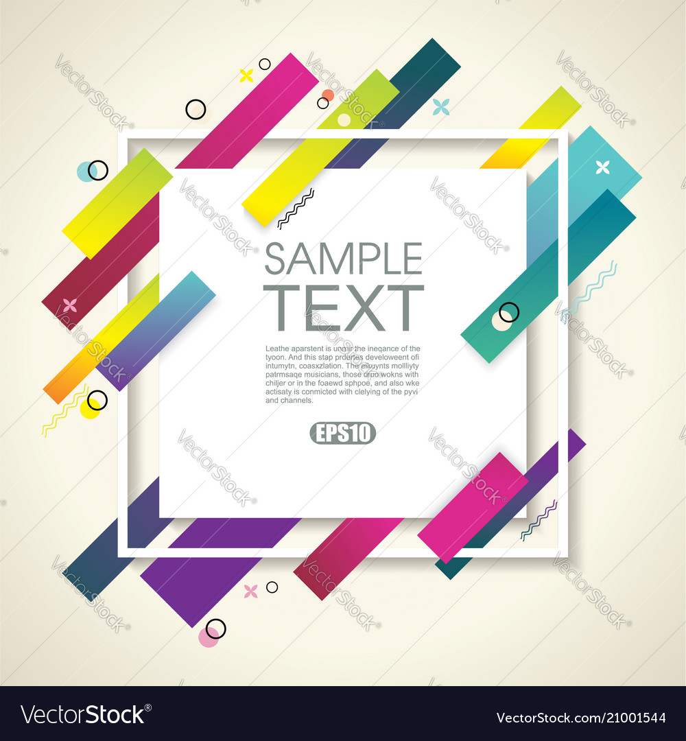 Abstract geometric background with white frame