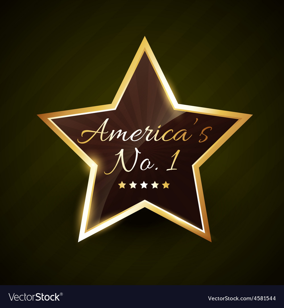 America number one no1 label