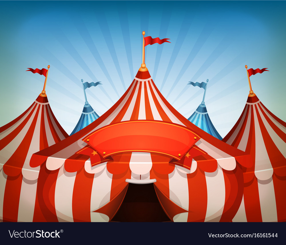 Big top circus tents with banner