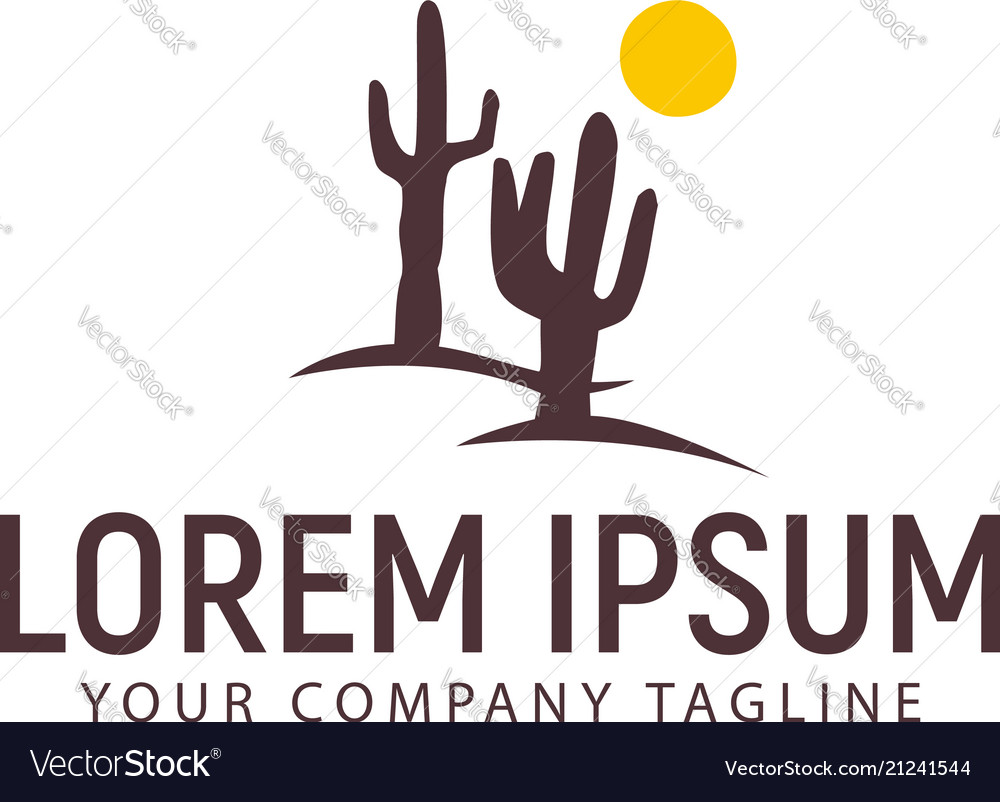 Cactus logo design concept template