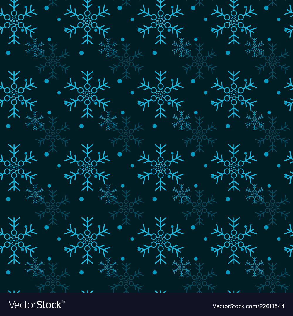 Christmas seamless pattern with snowflakes black