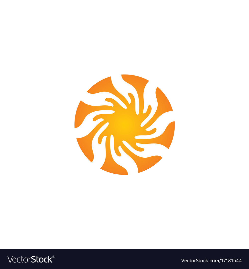 Circle abstract splash logo