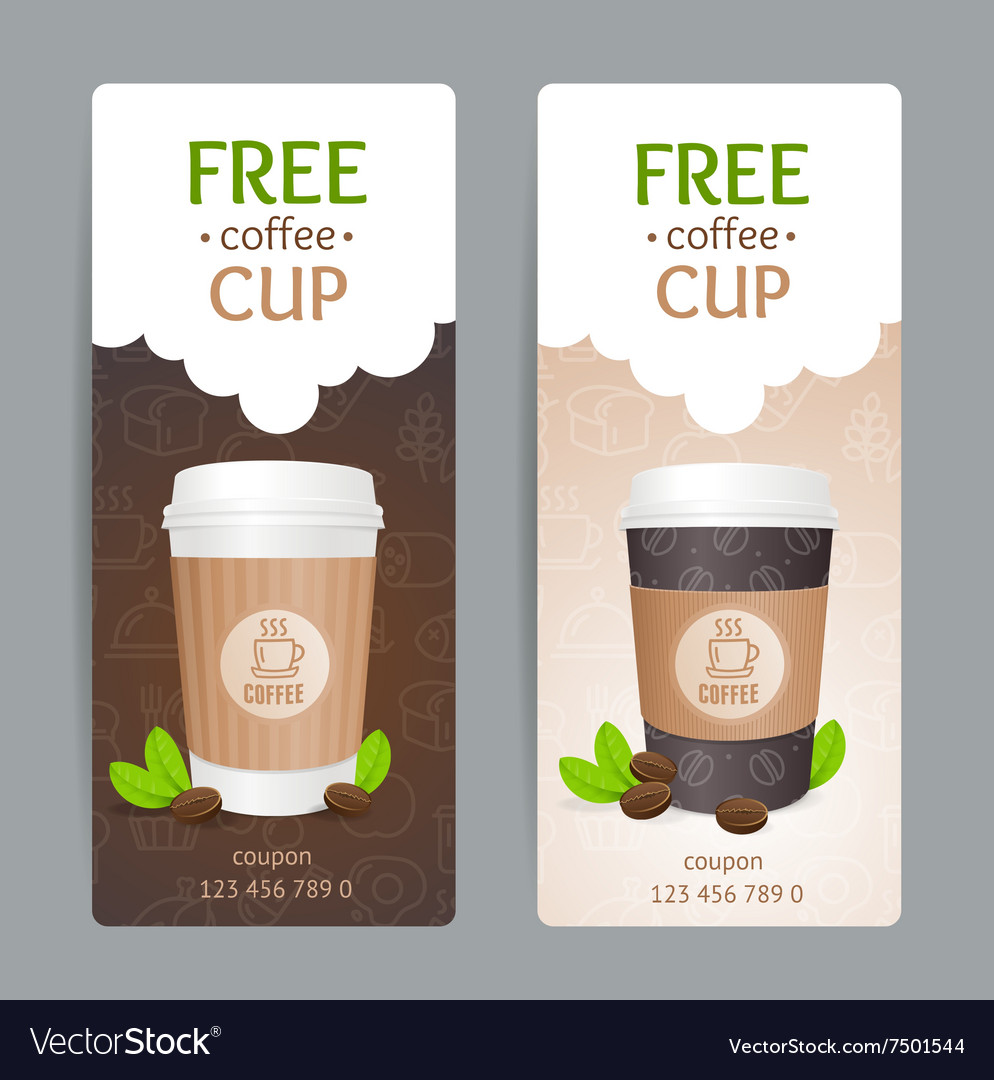 Coffee Coupon Set Free Cup