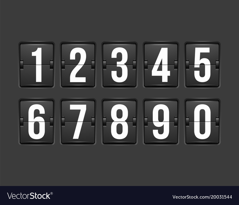 Countdown timer white color mechanical scoreboard