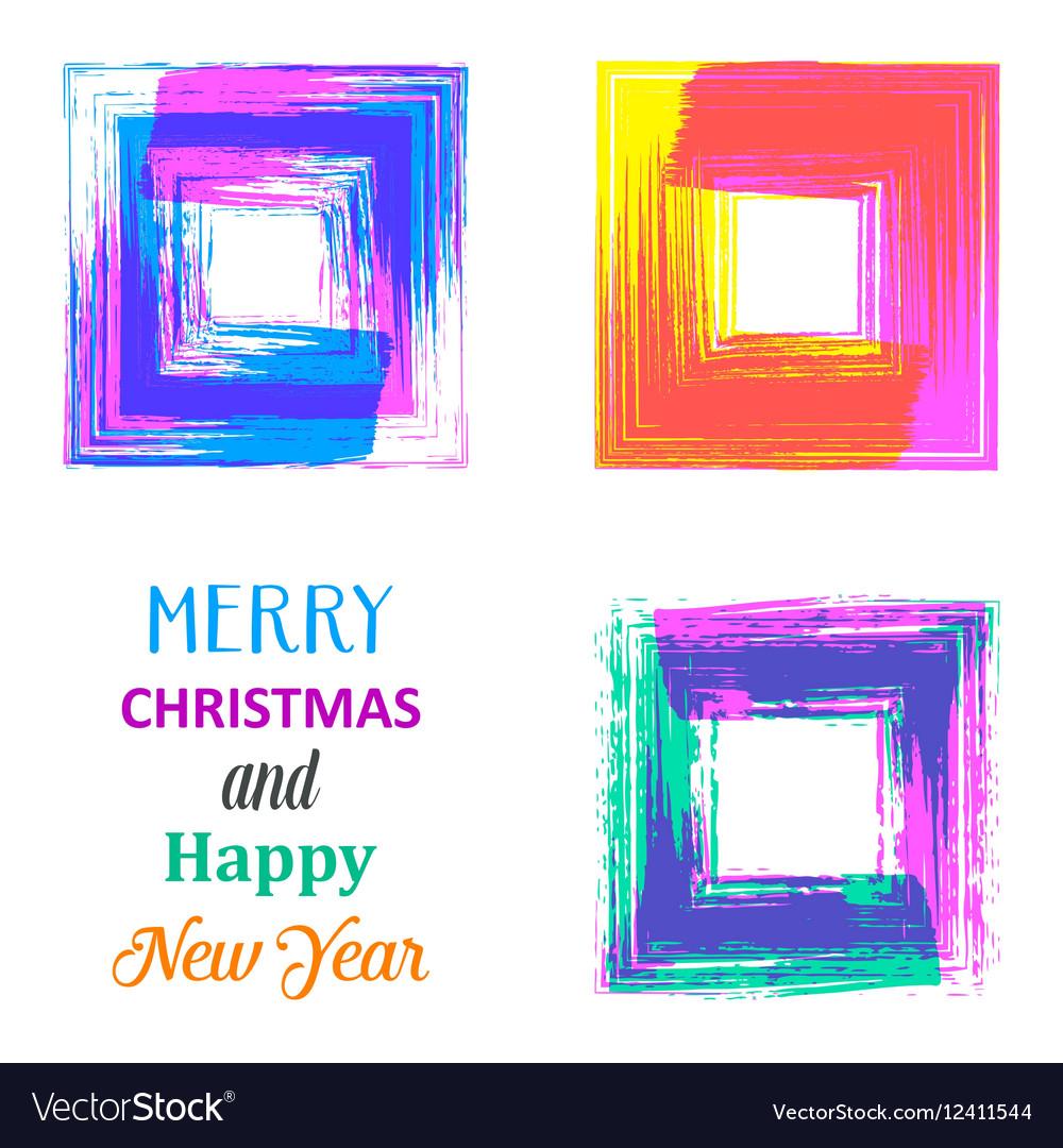 Creative merry christmas card