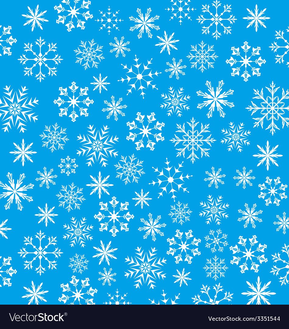 New Year Blue Wallpaper Snowflakes Texture