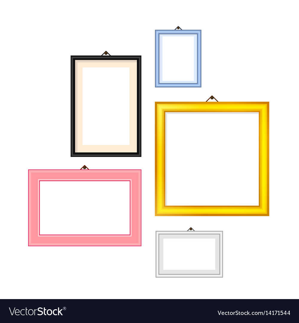 Photo frames rectangle set