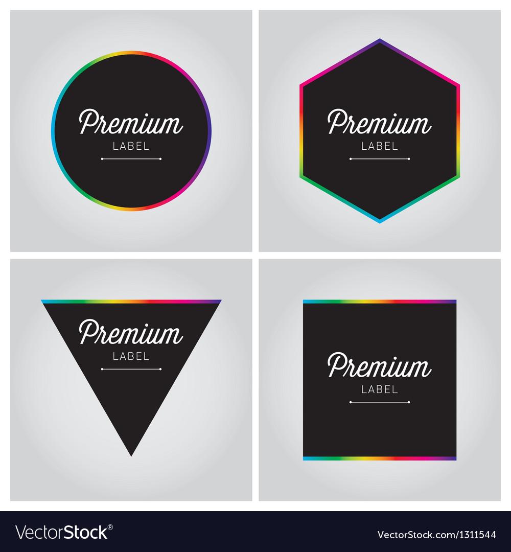 Premium logo label set