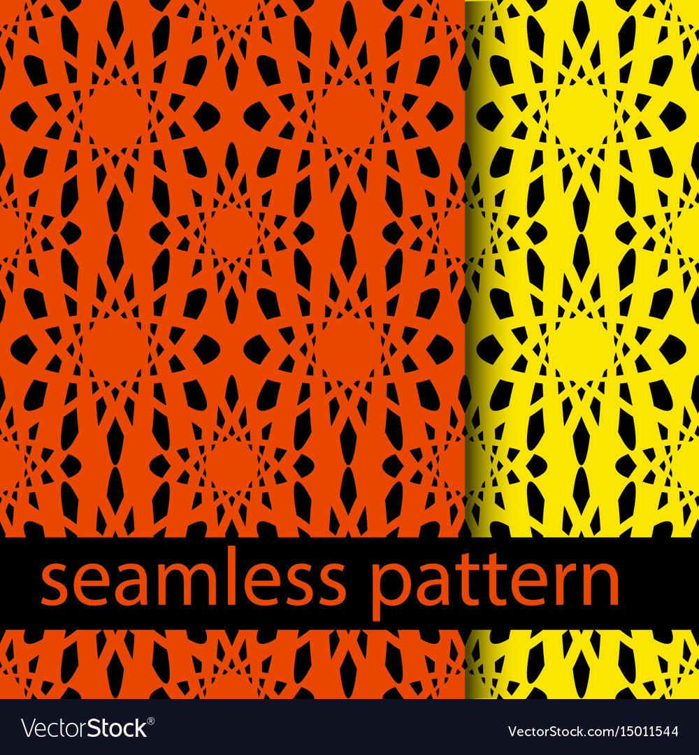 Set of two seamless pattern with abstract flower