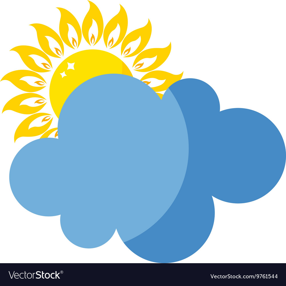 Sun icon isolated