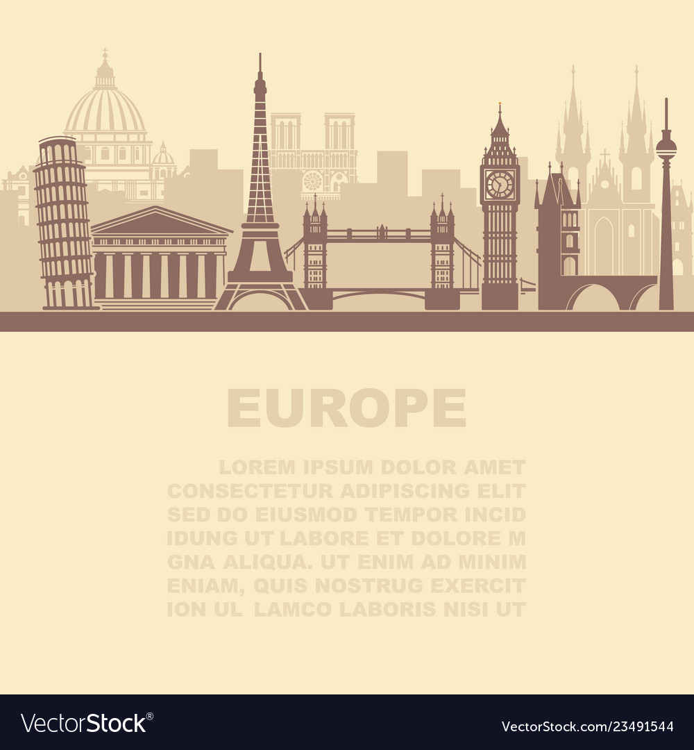 The layout of the leaflets with the sights europe