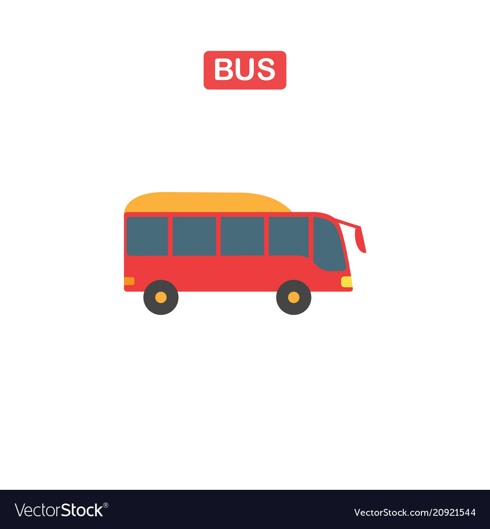 Thin line bus icon on a white background
