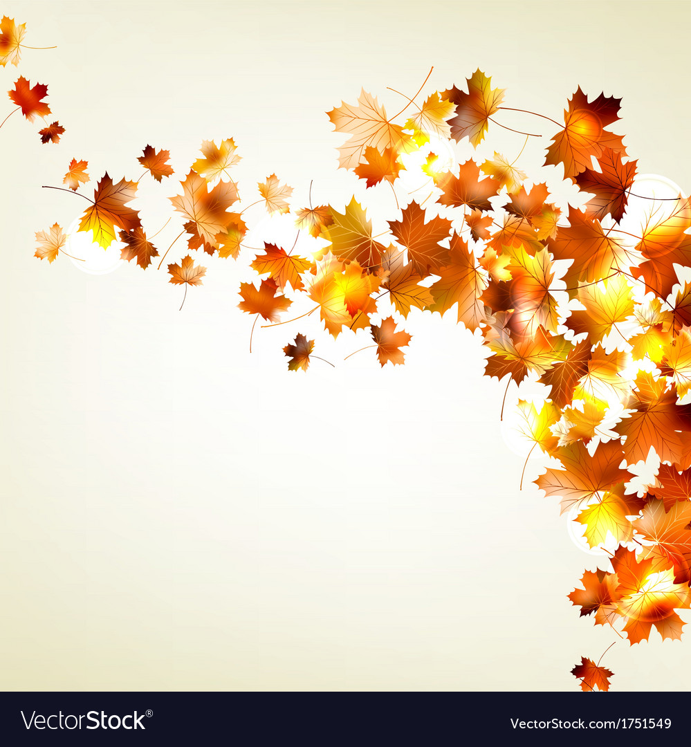 autumn falling leaves background eps 10 royalty free vector