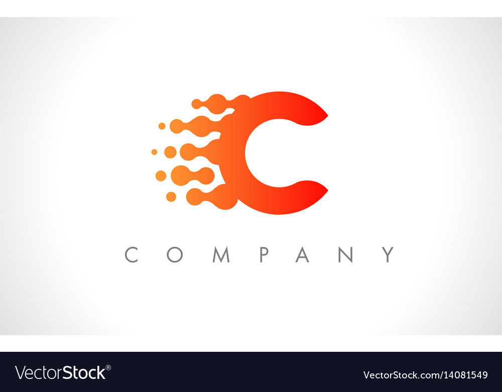 C logo c letter icon design vector image