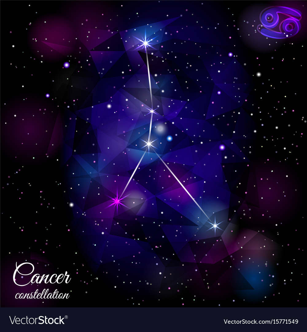 Cancer constellation with triangular background