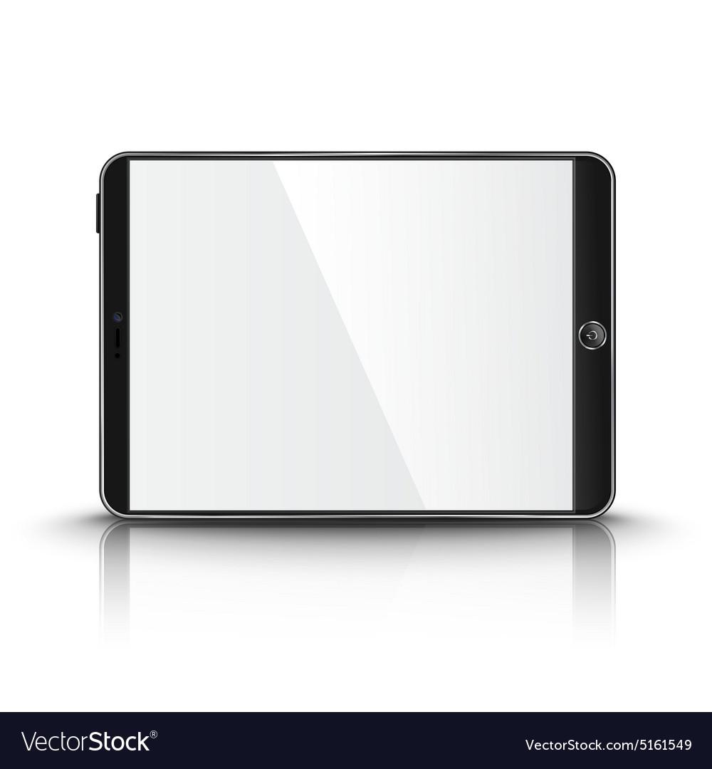 Dark modern tablet computer with blank screen