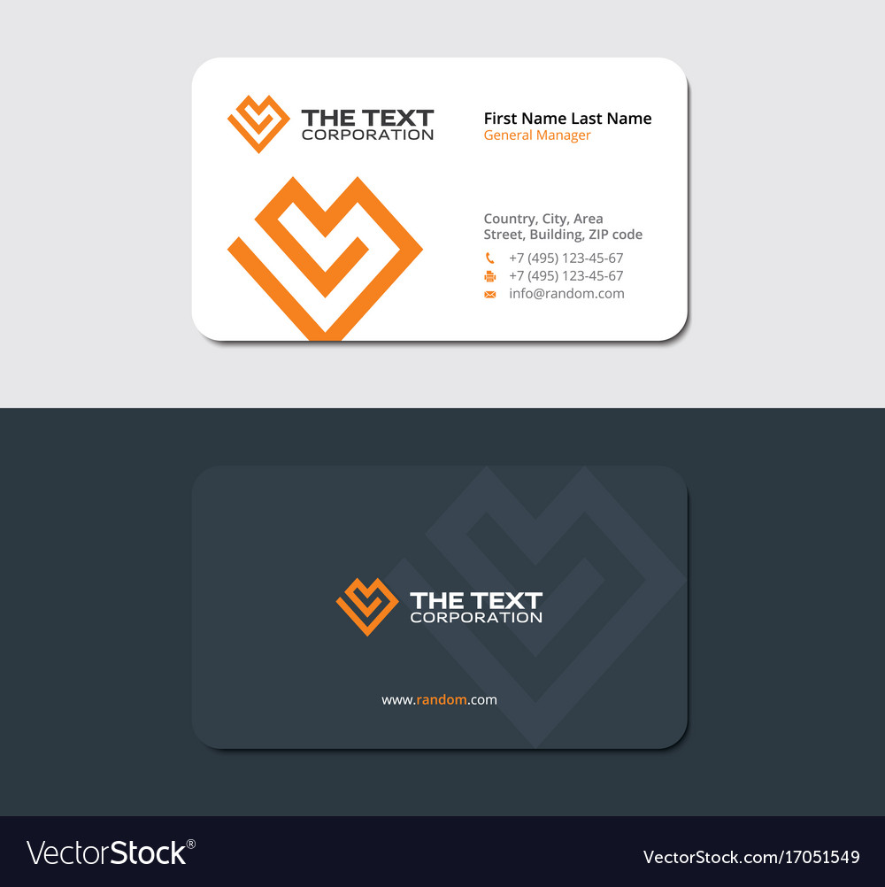 Matte business card of the charity fund Royalty Free Vector