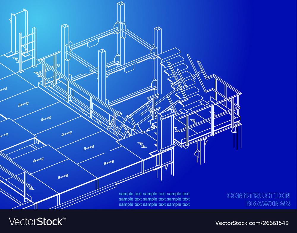 Metal constructions volumetric constructions 3d