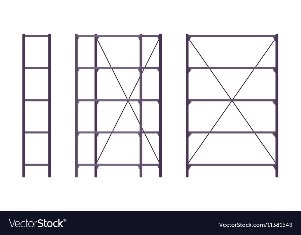Set of metal black rack vector image