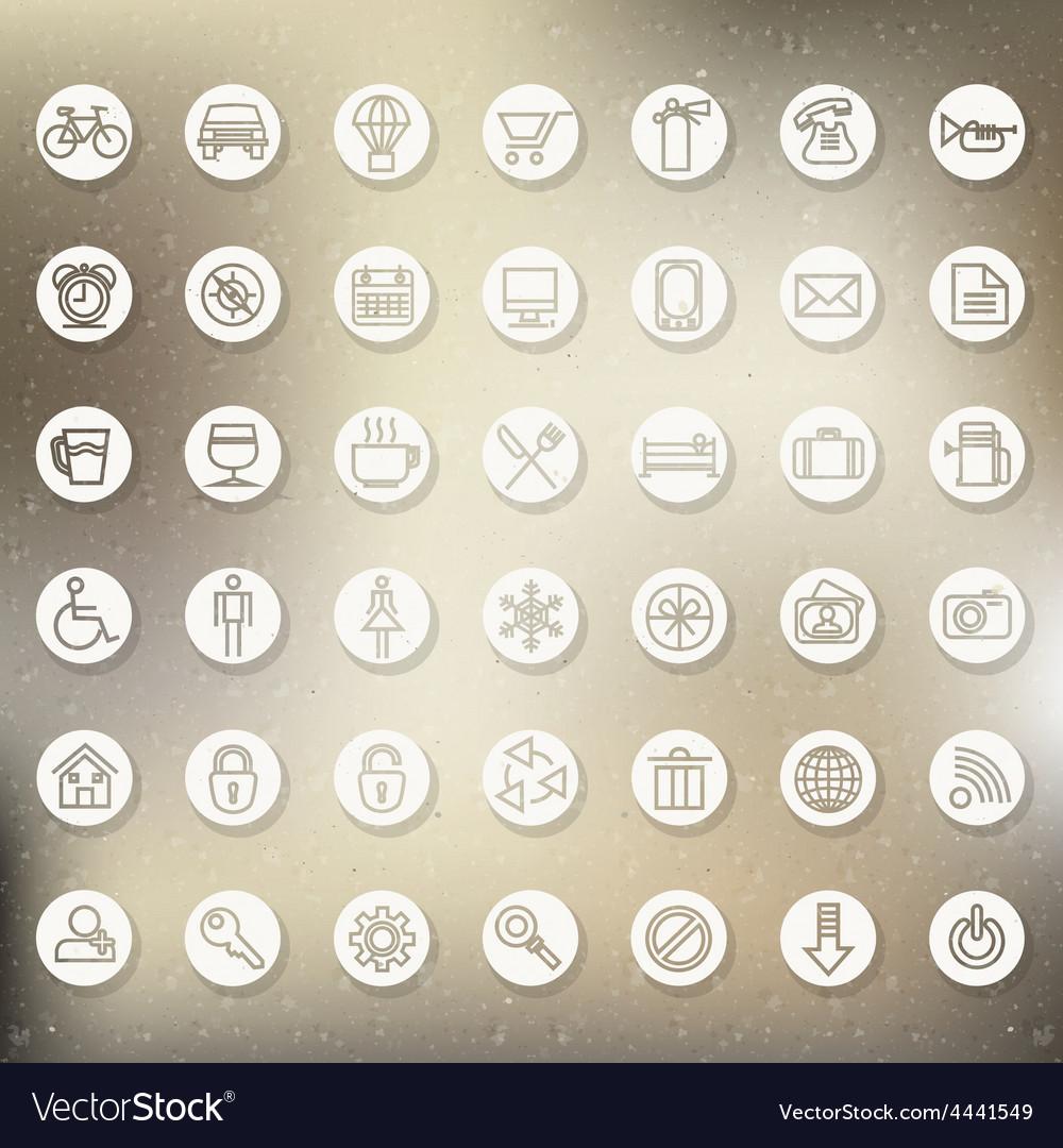 Vintage design elements and emblems