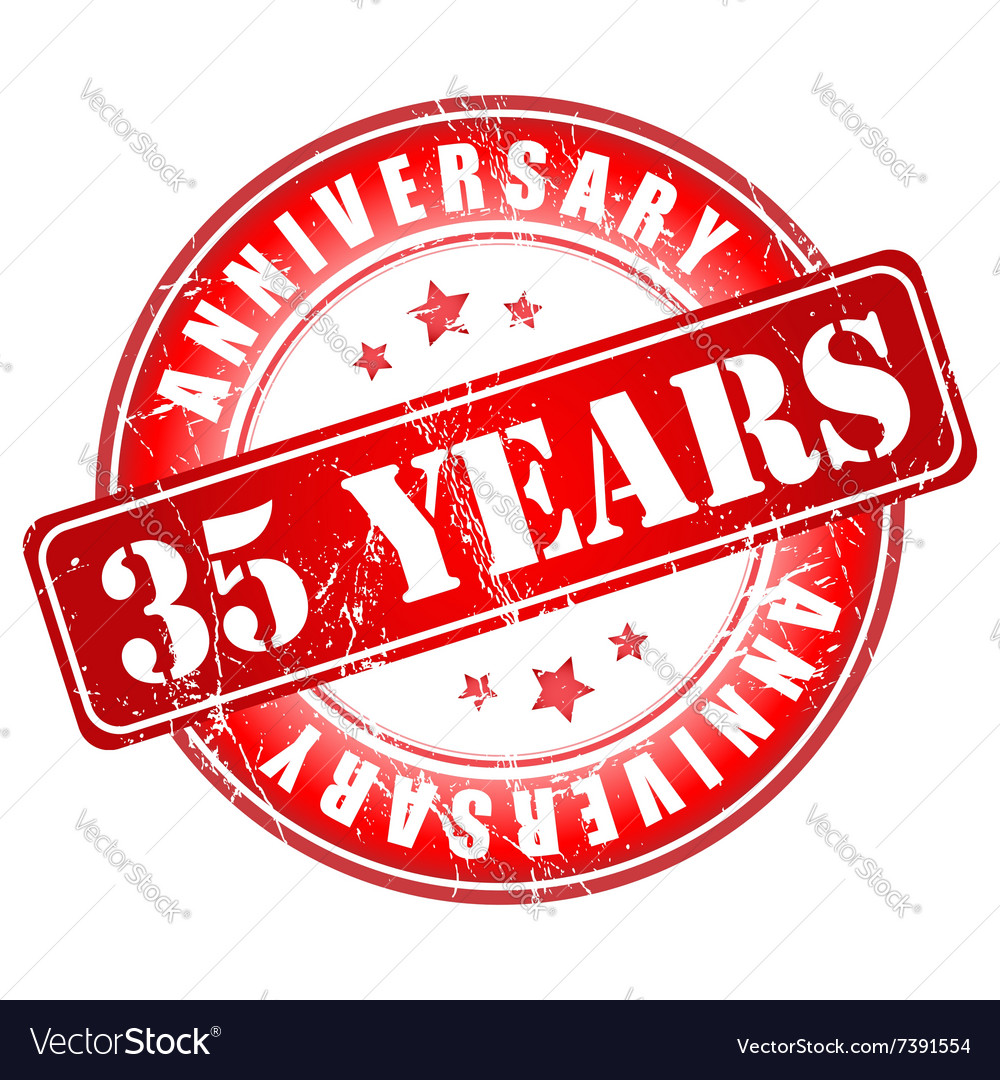 5 Years Anniversary Stamp Royalty Free Vector Image