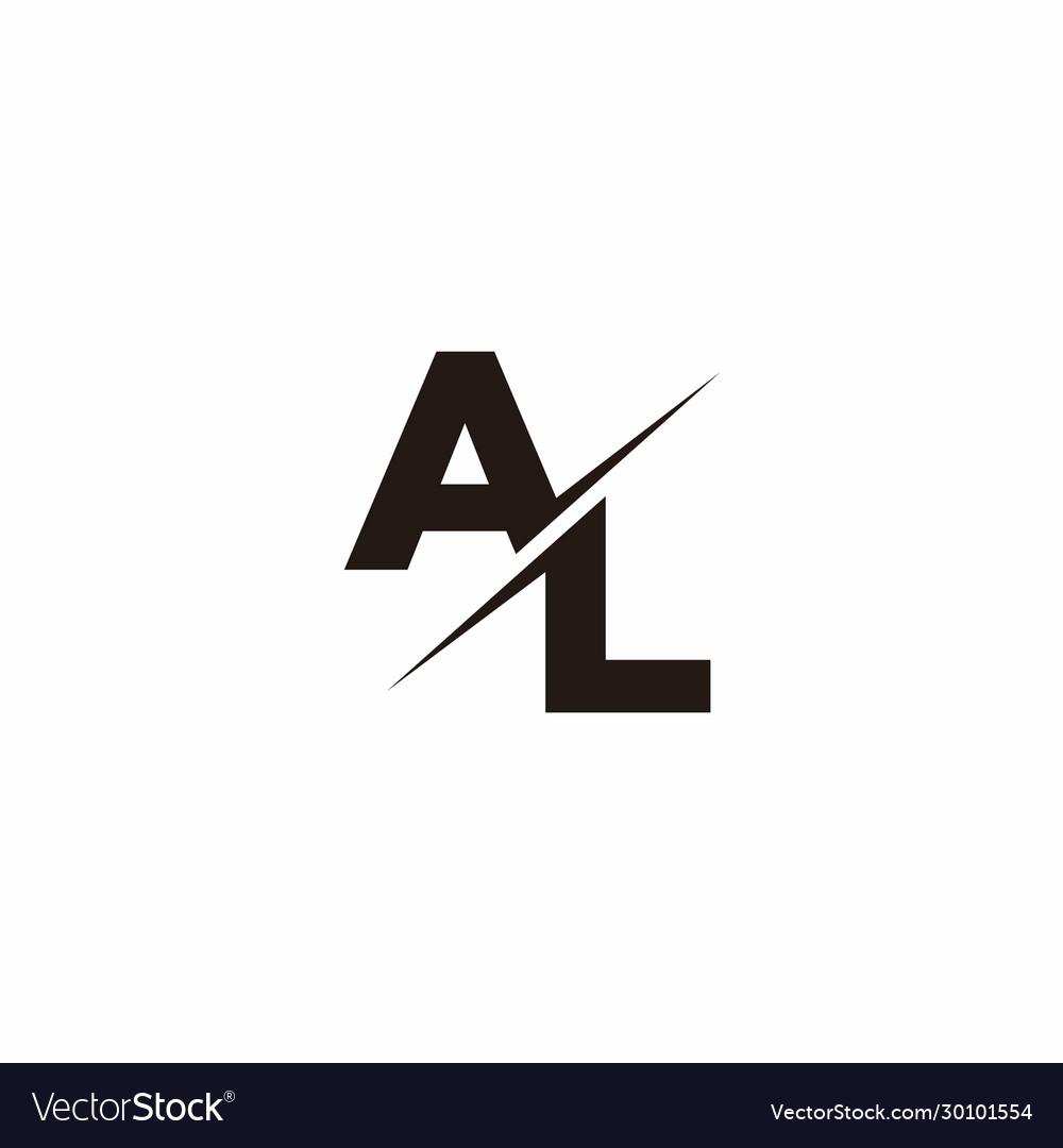 Al Logo Letter Monogram Slash With Modern Logo Vector Image