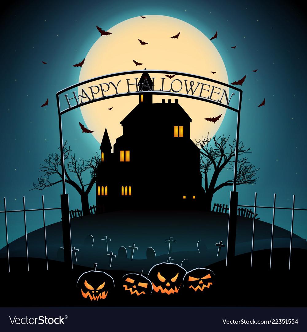Cartoon halloween night template
