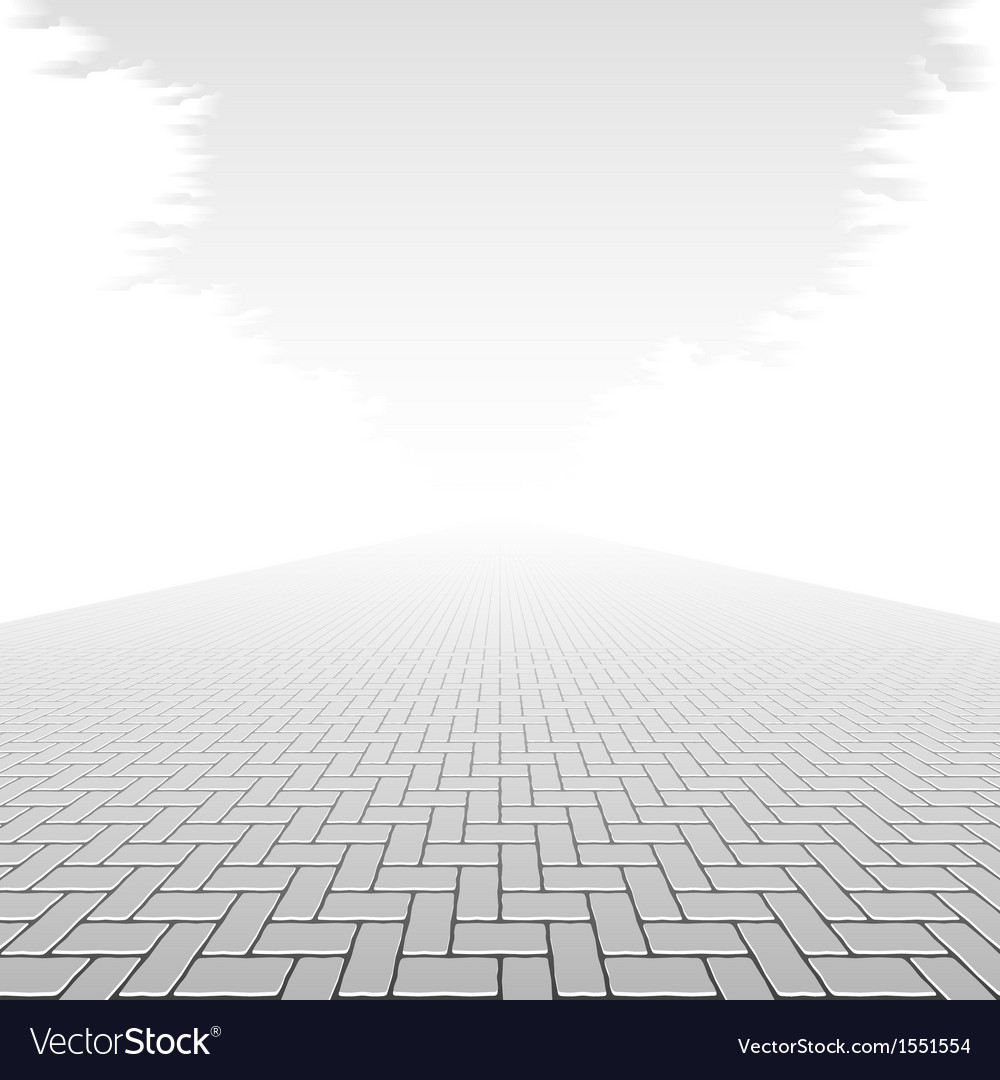 Concrete block pavement vector image