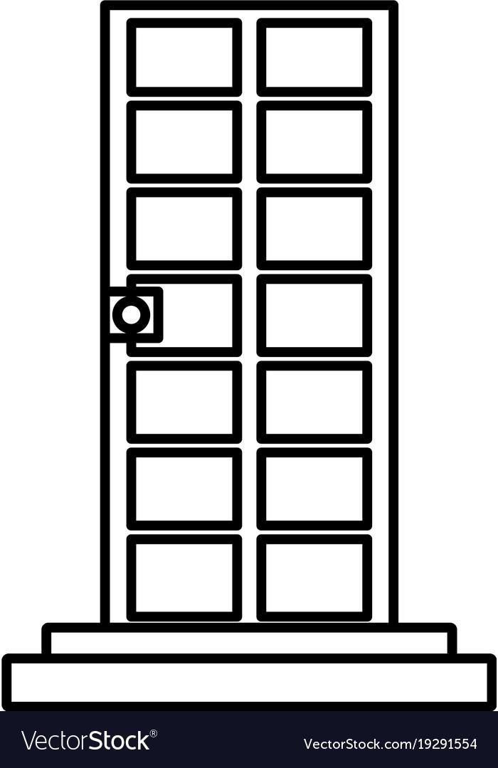 Door with stairs