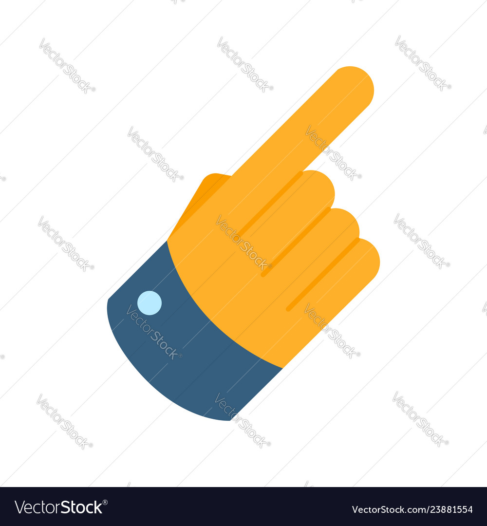 Forefinger flat icon hand with pointing finger