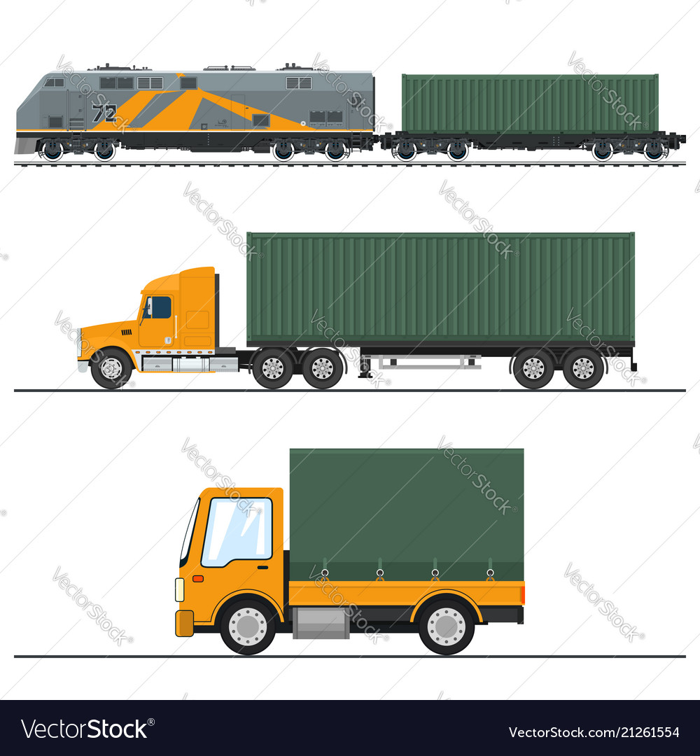 Land freight trucking and railway services
