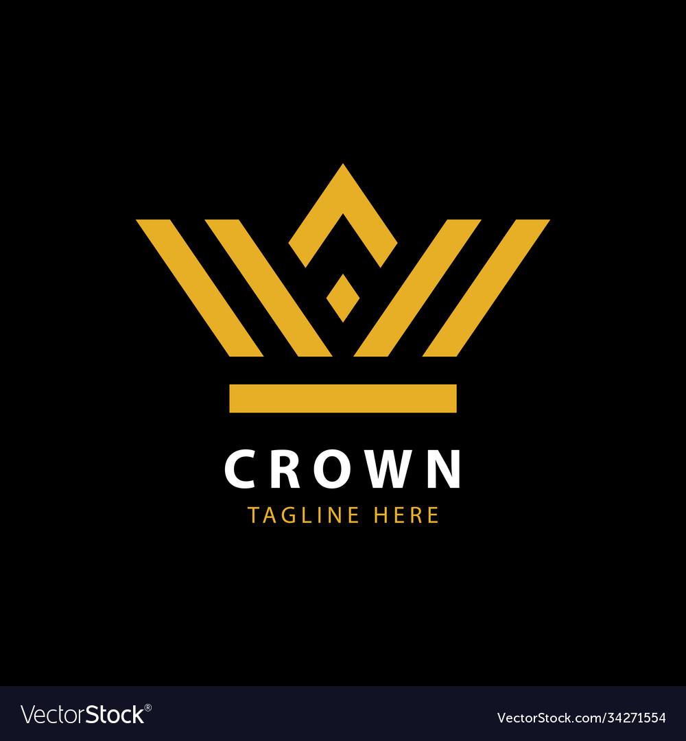 Modern golden crown logo template
