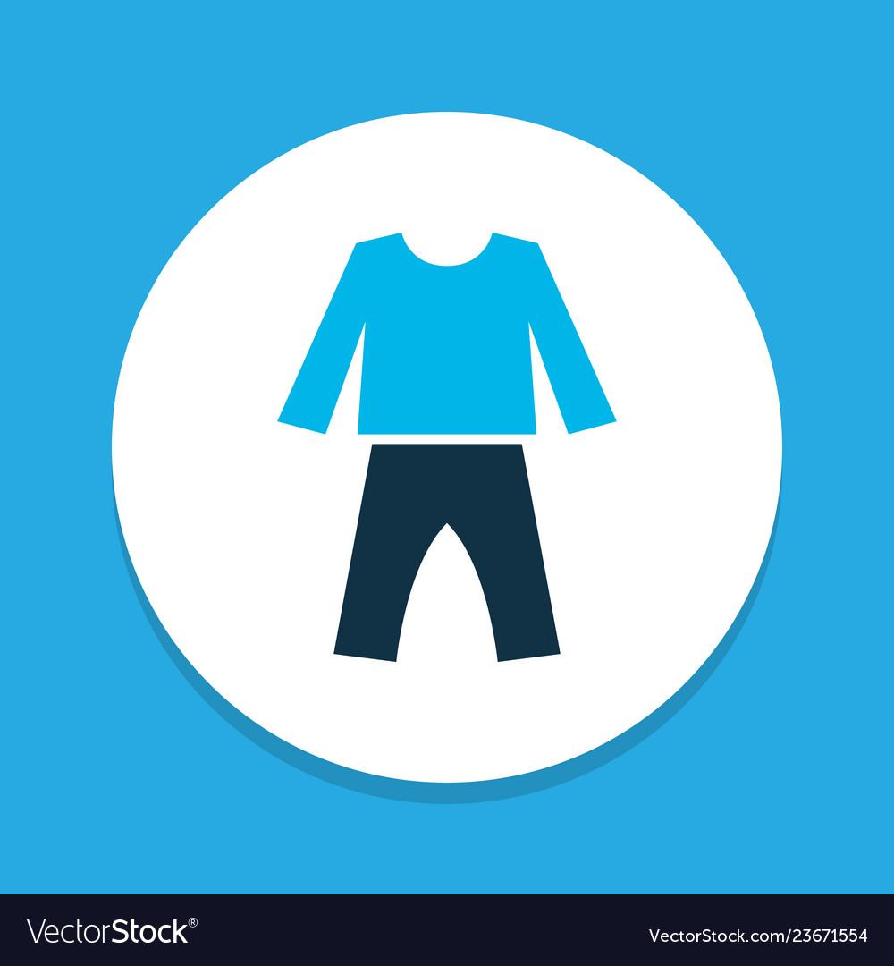 Pyjamas icon colored symbol premium quality