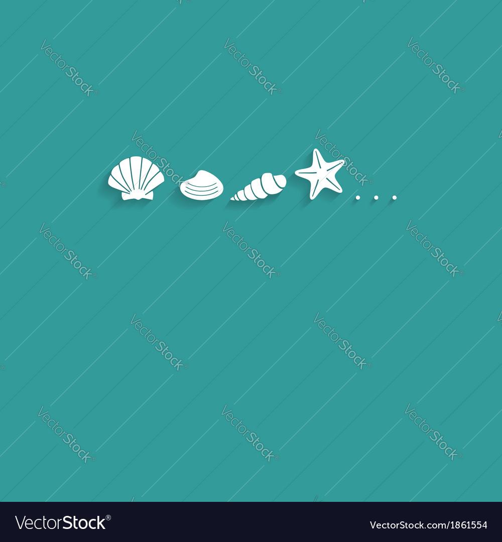Seashells flat card