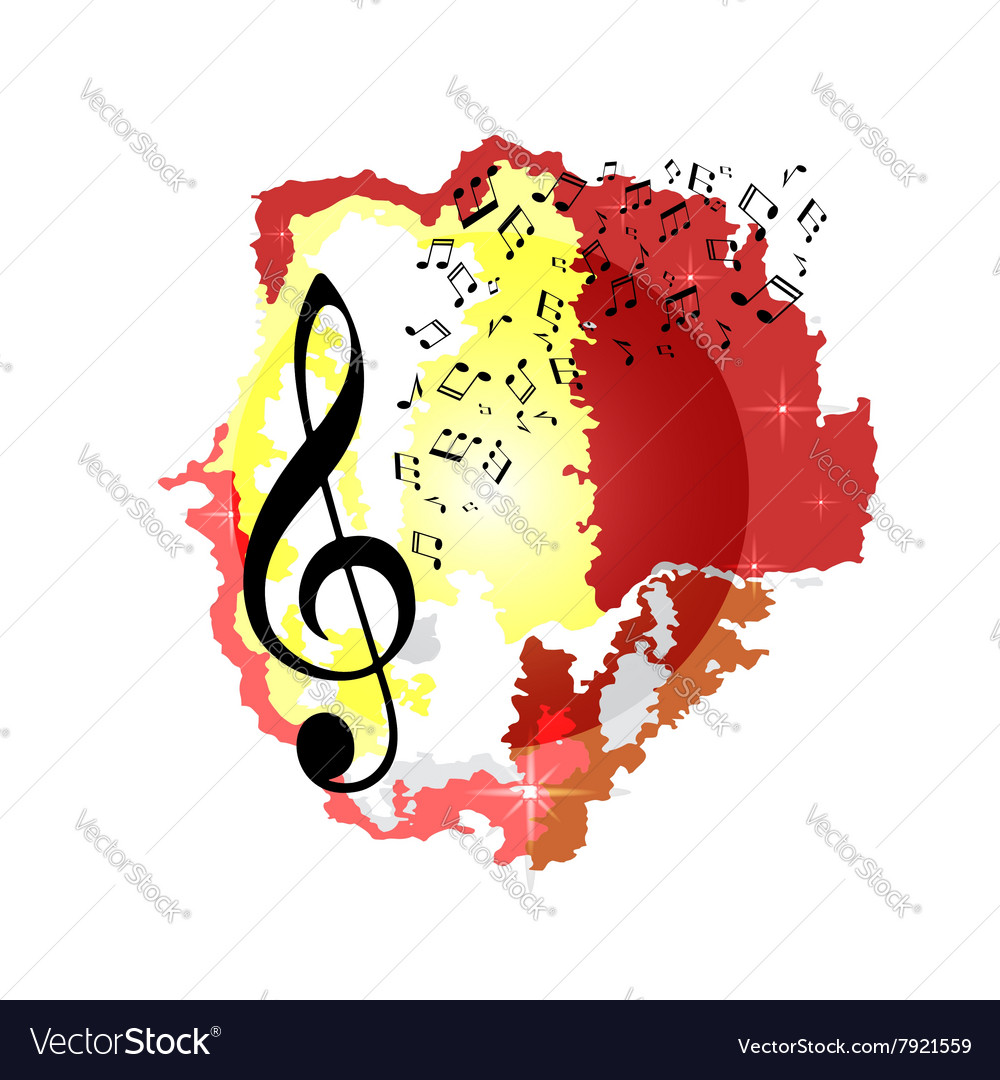 Abstract color music background