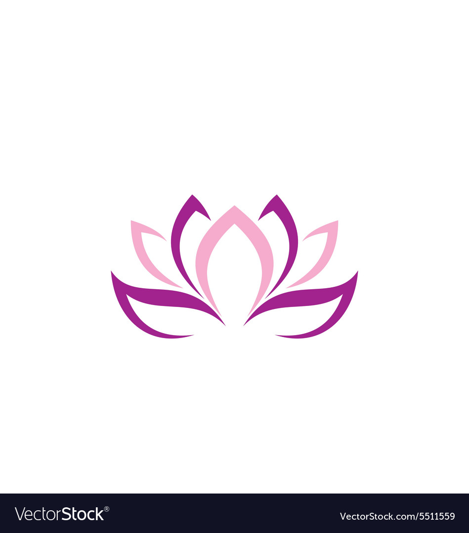Beauty lotus flower abstract logo