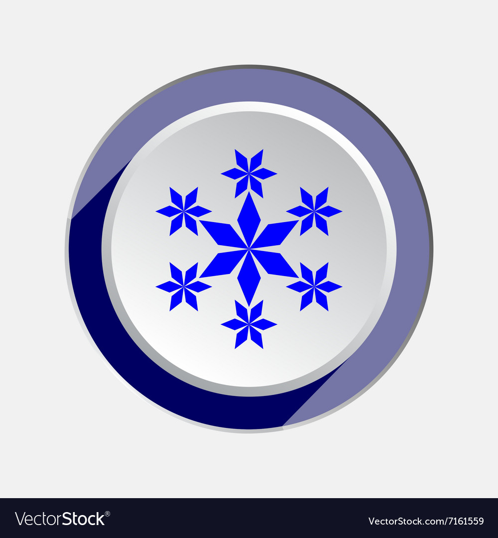 Christmas snowflake icon New year winter sale