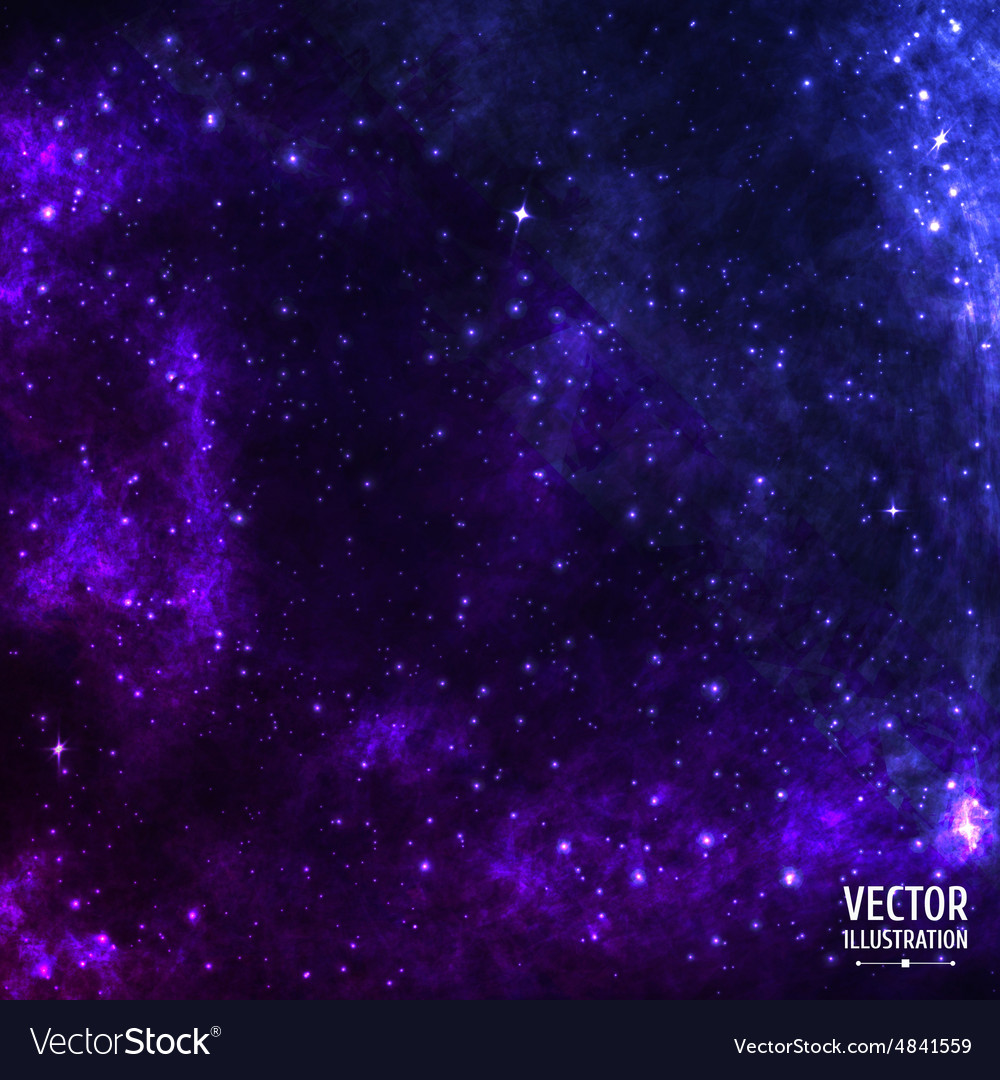 Colorful Cosmic Space Galaxy Background with Light vector image