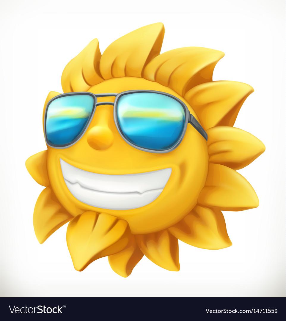 Fun summer sun 3d icon