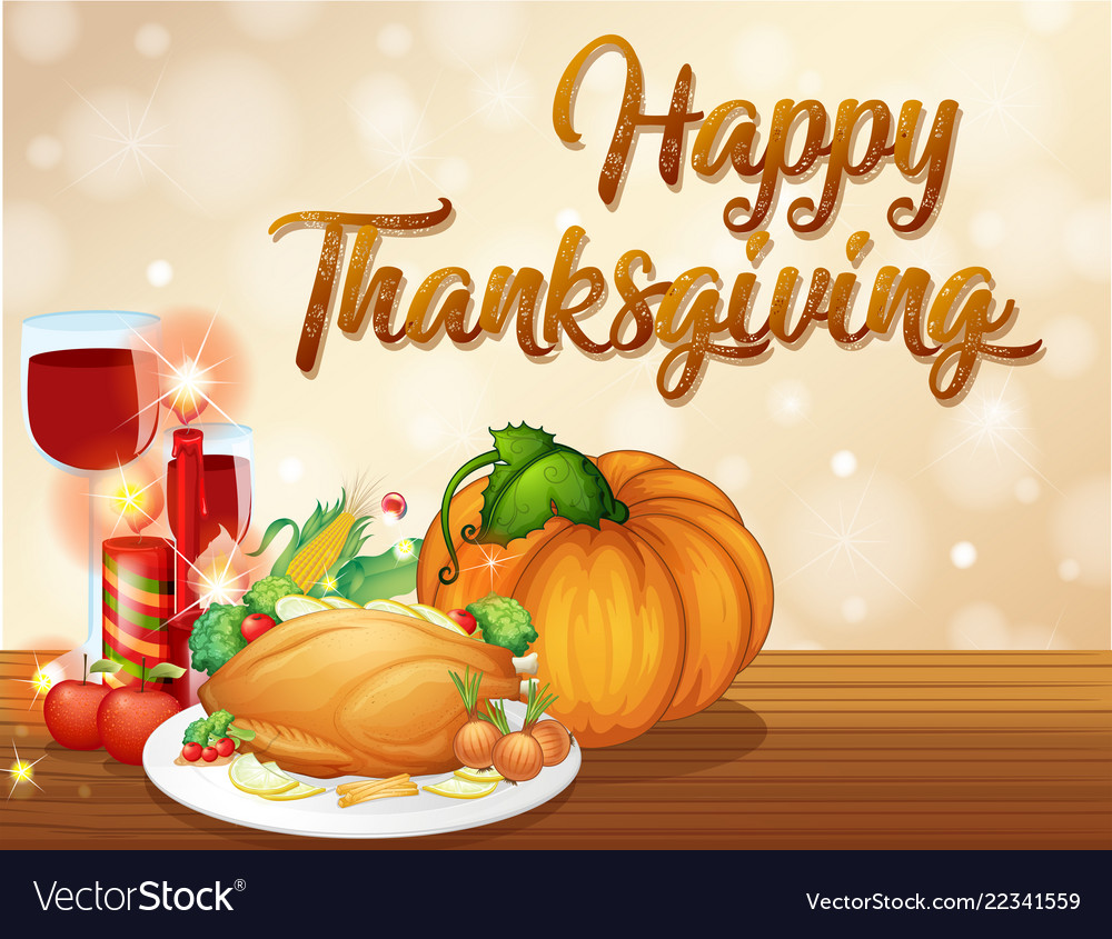 Happy Thanksgiving Feast Concept
