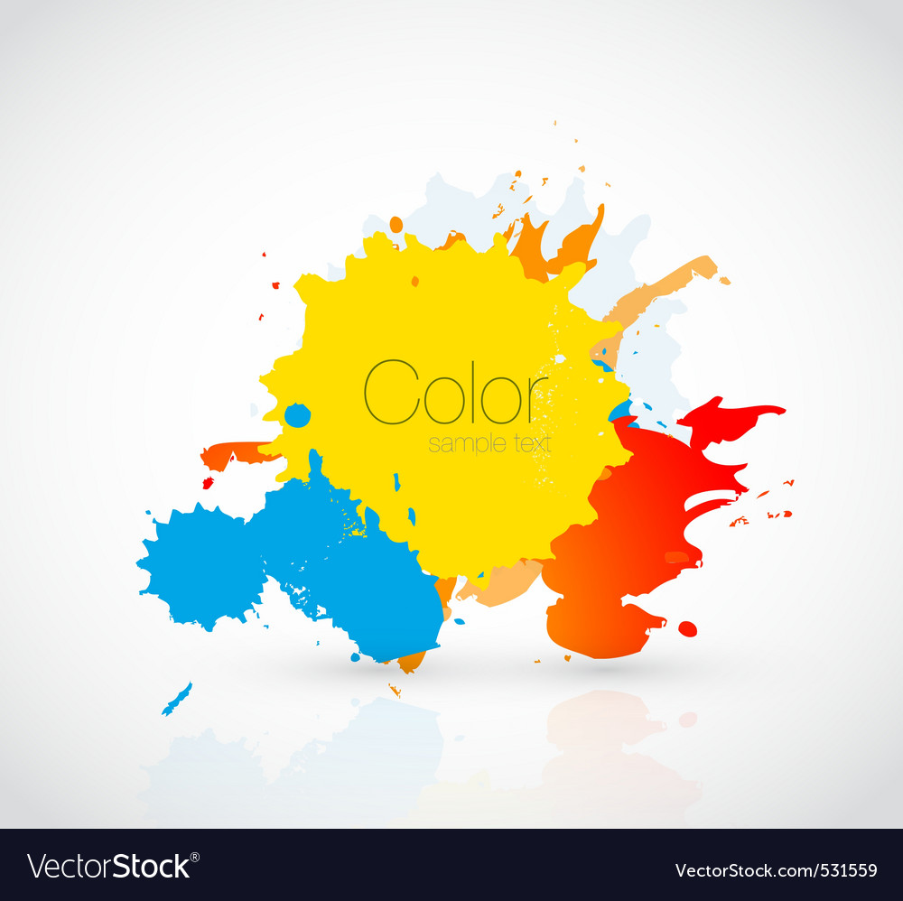 Ink droplet vector image
