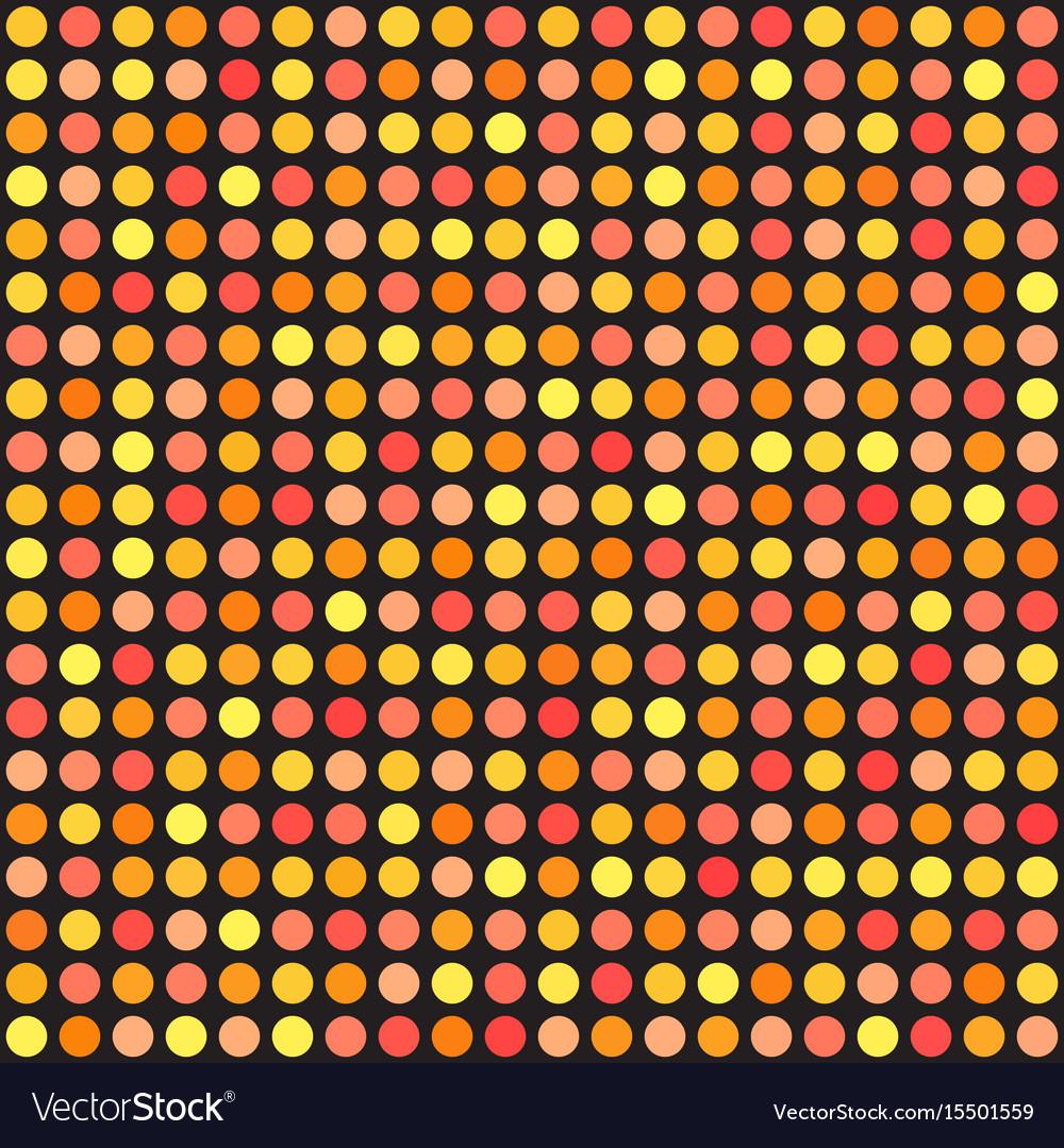 Polka dot pattern seamless circle background vector image