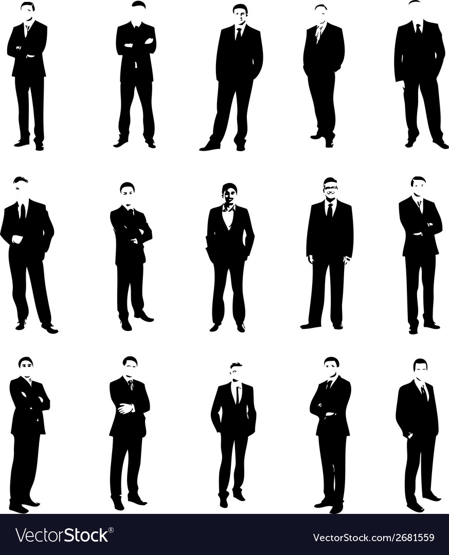 Set men silhouettes