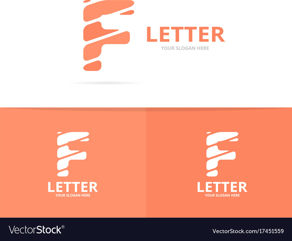 Unique letter f logo design template