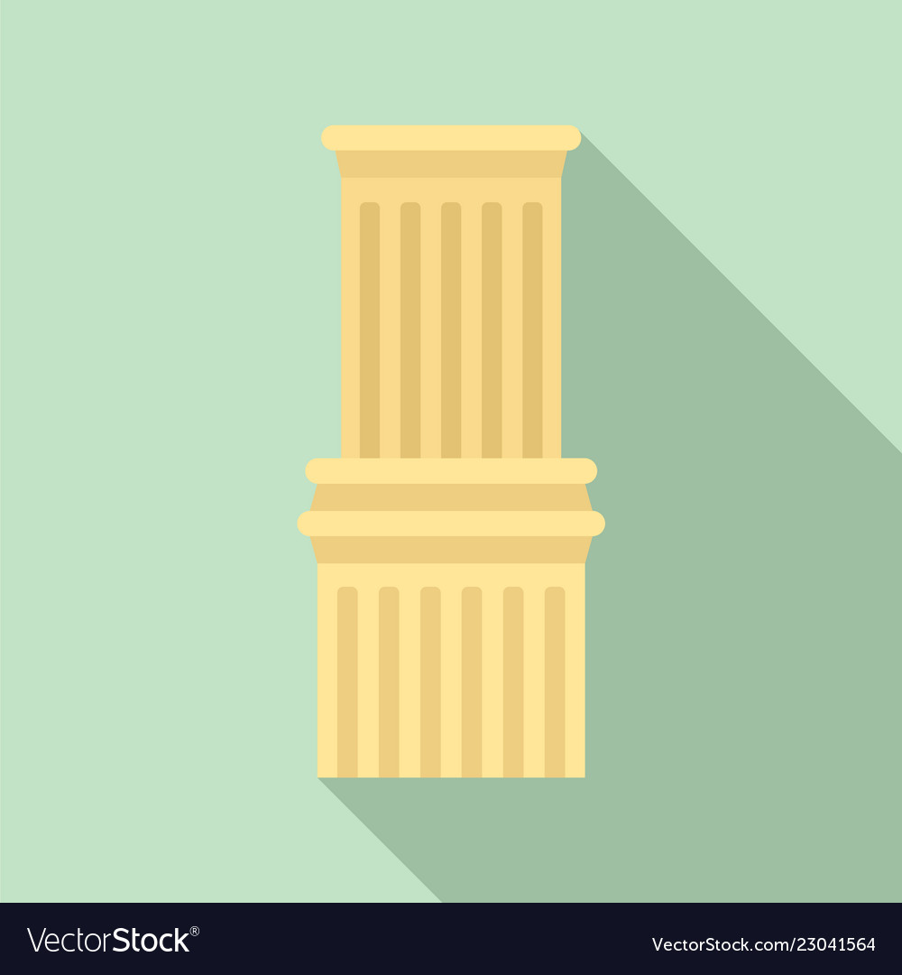 Ancient column icon flat style