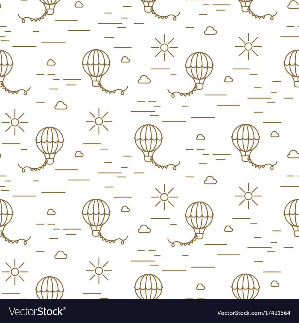 photo regarding Balloon Modelling Instructions Printable named Balloon basic line gold and white seamless